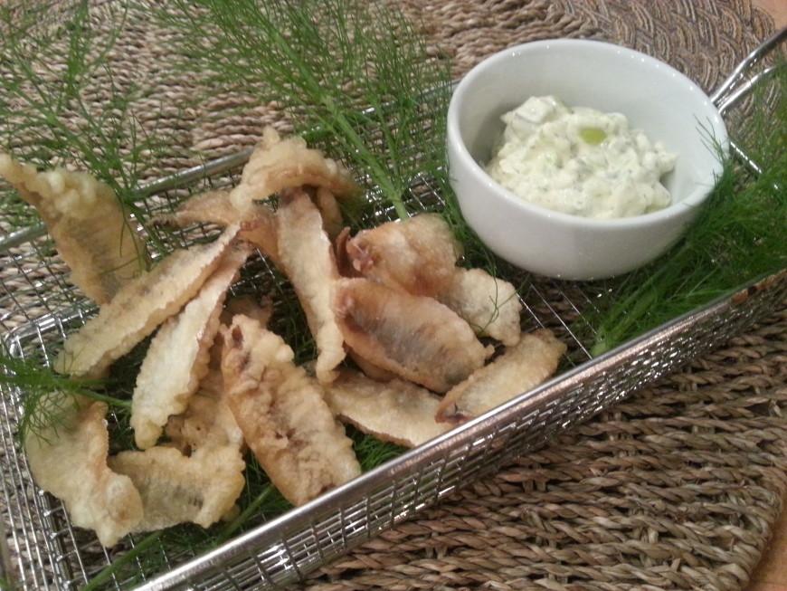 sprotfilets in tempura