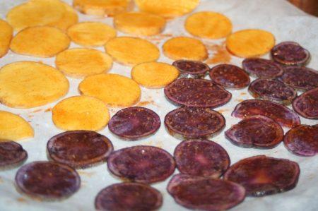 Aardappelchips uit de oven