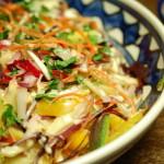 Rainbow salad; een kleurrijk bordje gezond