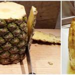Gebakken ananas met rum en vanille