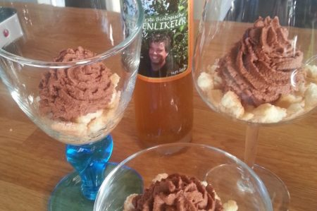 chocolademousse met peren in de maak (2)