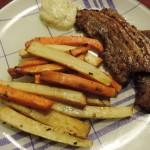 Gezonde friet van pastinaak en zoete aardappel