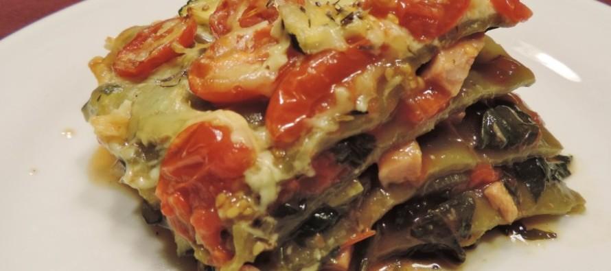 Groene lasagne - groenten