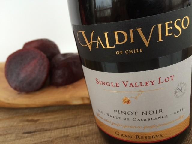 Pinot Noir Valdivieso, perfecte wijn bij bietjes