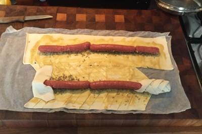 gevlochten worstenbrood instructie