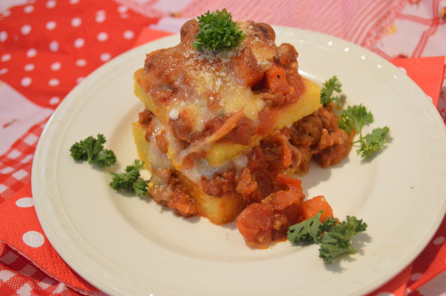 Lasagne met polenta