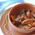 Geroosterde wortel met komijn; eenvoudige Griekse mezze