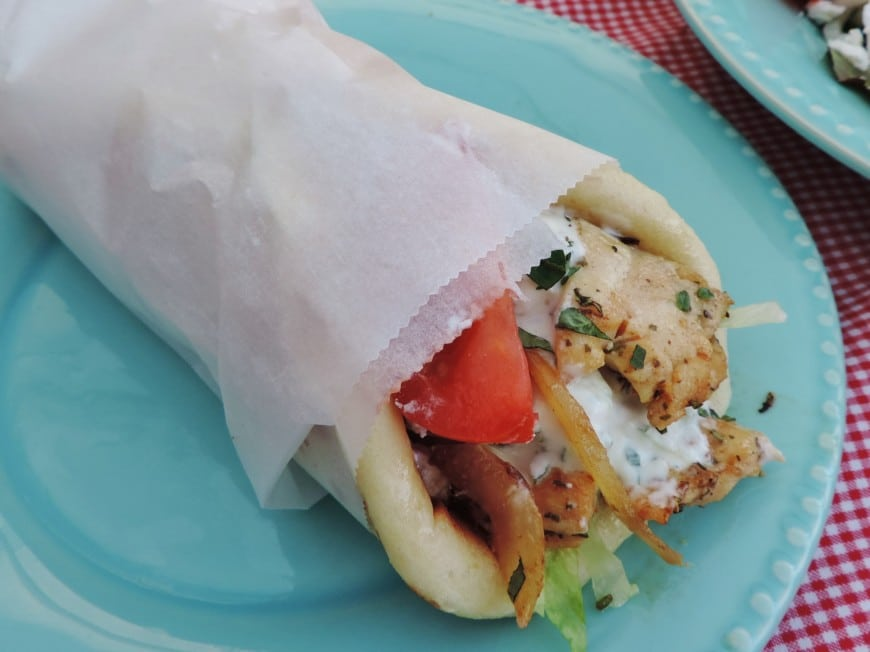 Griekse kip gyros