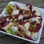 Salade van radicchio, peer en gorgonzola