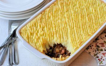 Cottage pie; Engels comfort food