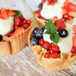 IJswafel bakjes met fris zomerfruit