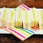 Komkommer sandwich; op en top Brits