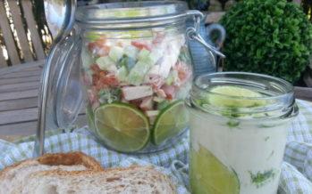 Makkelijke vleessalade voor in de picknickmand