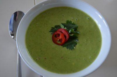 verse doperwten soep