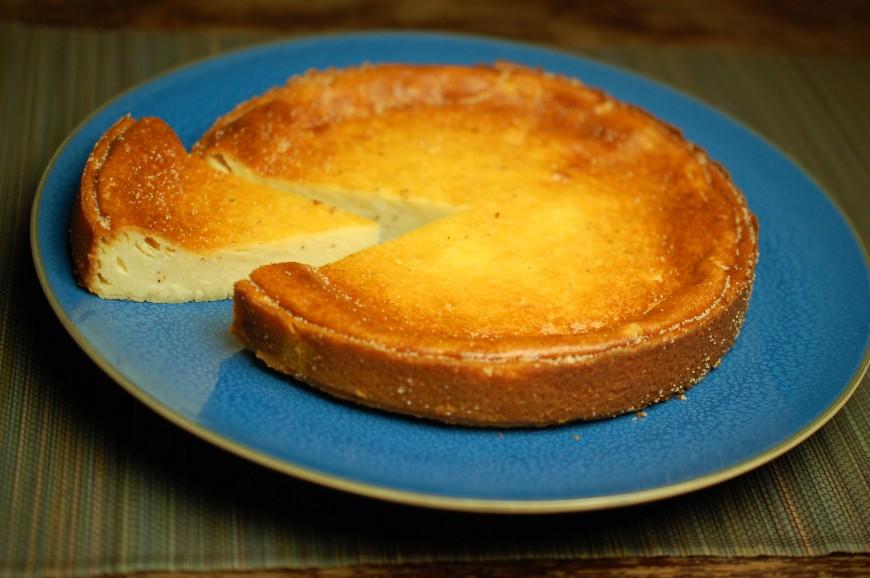 gebakken kwarktaart