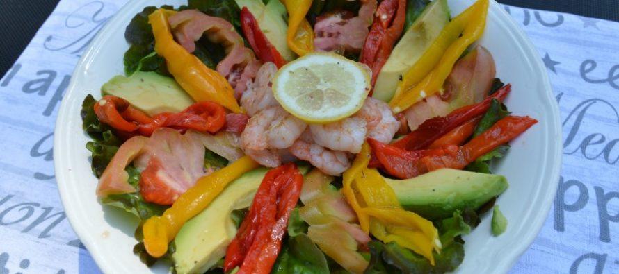 Salade van Salanova en gegrilde Sweet Palermo