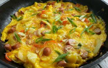 Snelle zomer omelet met worst – Verspil geen eten, maar wees creatief!