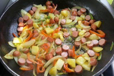 Snelle zomer omelet met worst - Verspil geen eten, maar wees creatief! (2)