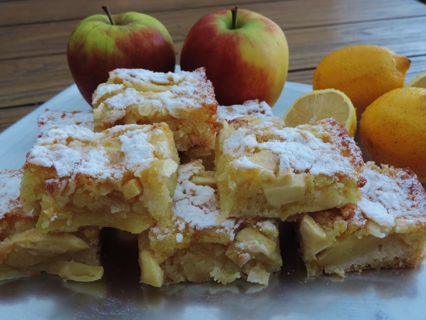 Appel citroen plaatcake recept