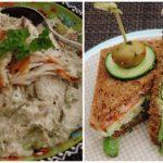Sandwiches met een mousse van gerookte makreel