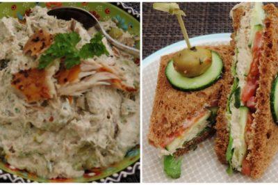 Sandwiches met een mousse van gerookte makreel recept