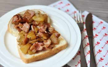 Appel en bacon op z'n Deens