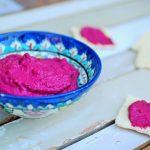 Bieten hummus; een roze zoete zaligheid