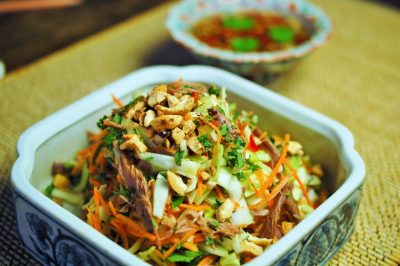 Vietnamese salade met eend