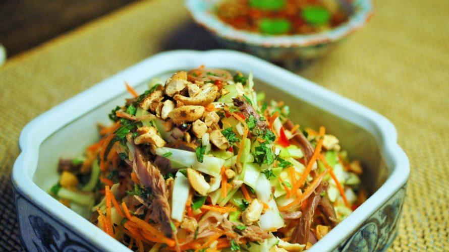 Vietnamese salade met eend – Goi Vit