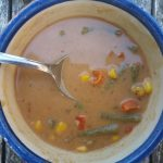 Pindasoep; lekkere volle maaltijdsoep met veel groenten