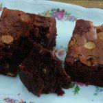 Brownie met witte chocolade stukken