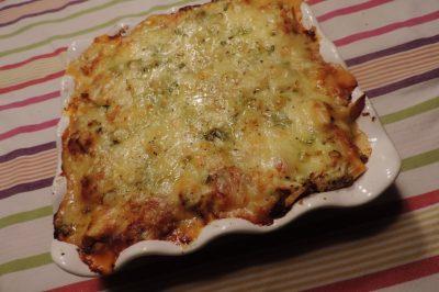 Lasagne met gebraden kip