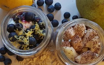 Overnight oats; twee fruitige variaties