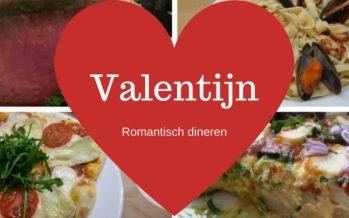 Valentijndiner; 4 x romantisch dineren