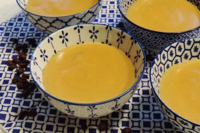 koffie karamel pudding