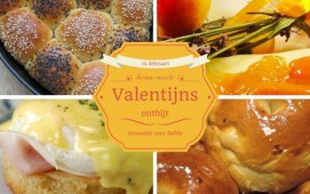 Valentijnsontbijt; om de dag liefdevol te beginnen