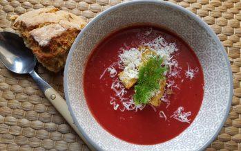 Soep van venkel, biet en pompoen; Spicy met een zoete tegenhanger