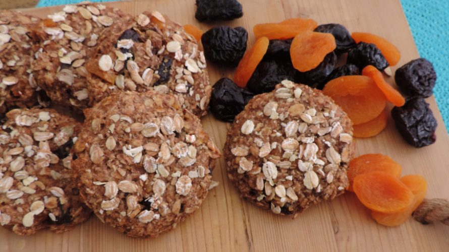 Volkoren koeken met gedroogd fruit