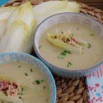 Witlof soep op z'n Hollands met ham en kaas