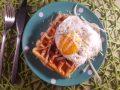 Ontbijtwafel met ham en kaas