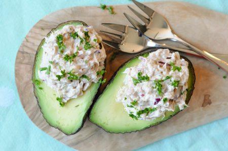 Avocado gevuld met tonijnsalade-alternatief header