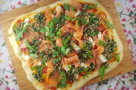 Pizza zalm geitenkaas