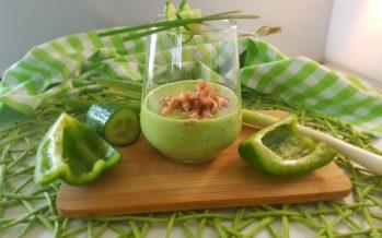 Groene gazpacho met Hollandse garnaaltjes