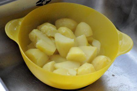 Aardappels afgieten
