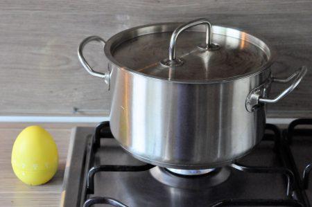 Aardappels koken fornuis met timer