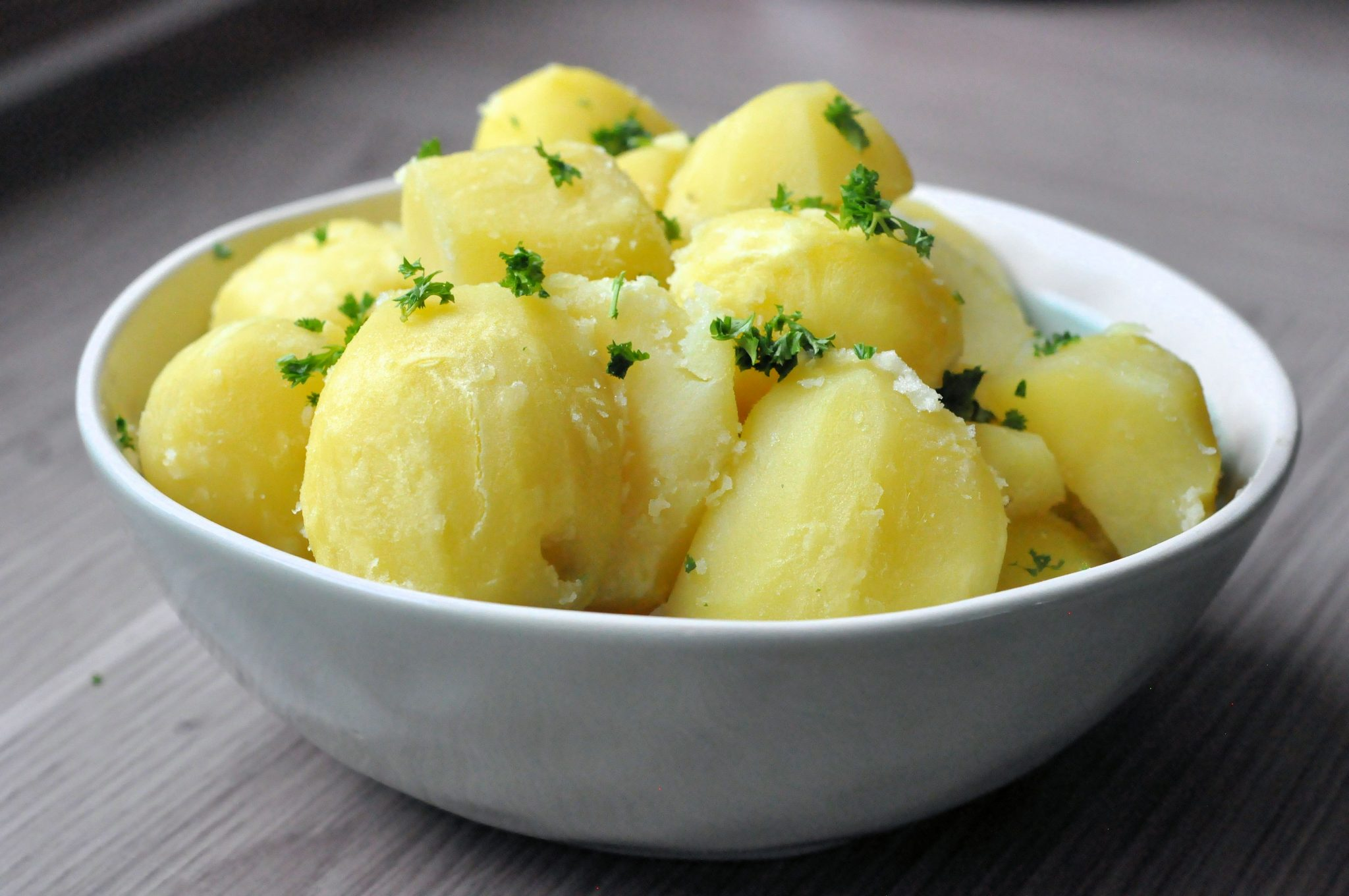 Aardappels koken header schaal