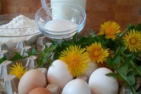 Pannenkoeken met paardenbloem ingrediënten