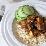 Speklapjes met rijst op z'n Aziatisch