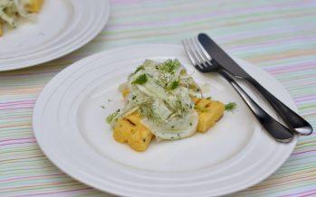 Venkelsalade met gegrilde polenta