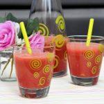 Watermeloensap met steranijs; fruitig drankje